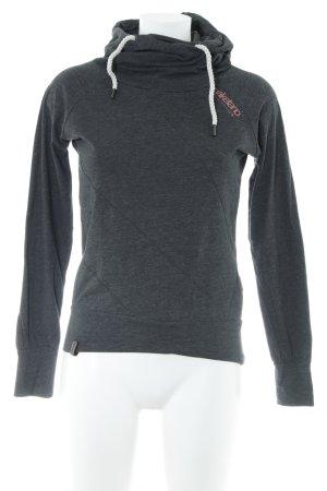 Naketano Kapuzensweatshirt dunkelgrau meliert Casual-Look