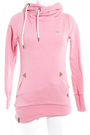 Naketano Kapuzensweatshirt rosa Casual-Look