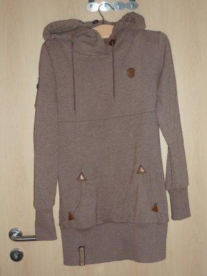 Naketano Hooded Dress brown mixture fibre