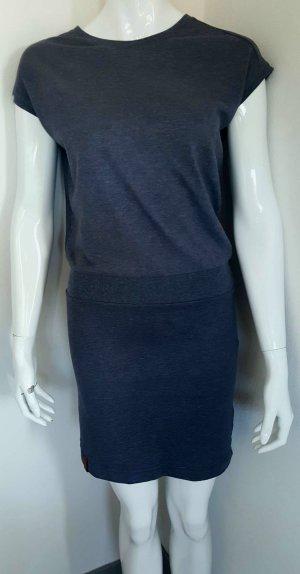 Naketano Vestido elástico gris pizarra-azul Algodón