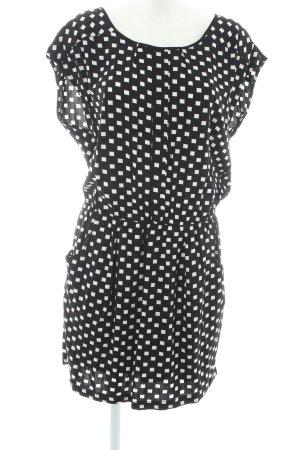 Naketano Kurzarmkleid schwarz-weiß grafisches Muster Casual-Look