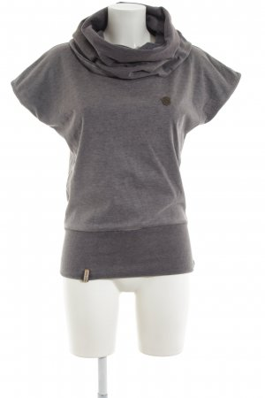 Naketano Short Sleeve Sweater light grey flecked casual look
