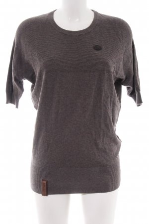 Naketano Short Sleeve Sweater brown flecked casual look