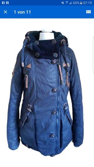Naketano Marken Damen Winter Jacke XS 34 schwarz Mantel sexy