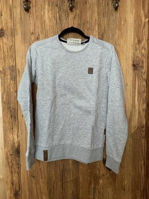 Naketano Maglione oversize grigio chiaro-marrone