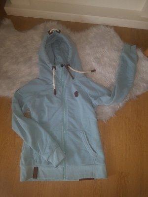 Naketano Pullover blau M Haumich Pflaumich blau Jacke Sweater Hoodie blogger hipster