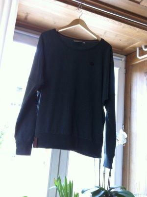Naketano Kraagloze sweater groen-grijs Katoen