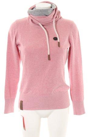 Naketano Maglione dolcevita rosa puntinato stile casual