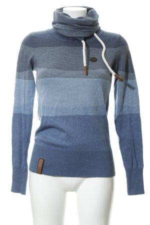 Naketano Turtleneck Sweater color gradient casual look