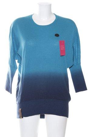 Naketano Rundhalspullover blau Farbverlauf Casual-Look