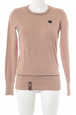 Naketano Rundhalspullover beige-apricot Casual-Look