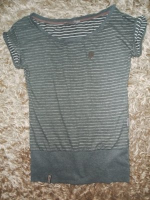 Naketano Shirt, Größe M, oligrün/weiß gestreift