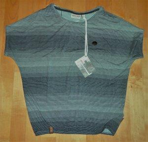 Naketano Shirt Schnatternatter Eule V Mint Streifen L 40 Neu