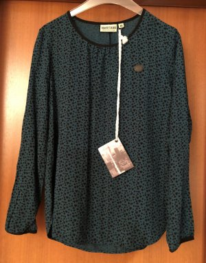 Naketano Shirt Tunika Grün Herz-Print Oma auf dem Opa M 38-40 Neu