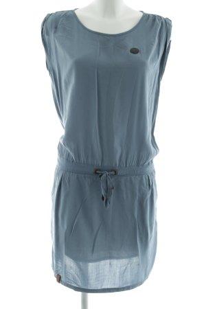 Naketano Vestido estilo camisa azul look casual