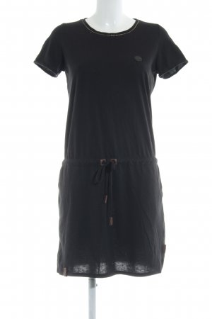 Naketano Shirtkleid schwarz-dunkelbraun Casual-Look