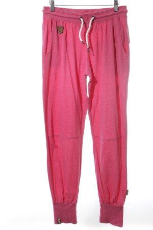 Naketano Pantalon de sport rose style athlétique