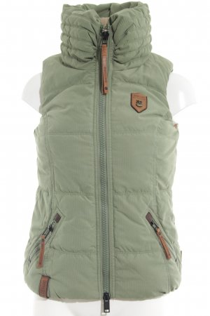 Naketano Quilted Gilet khaki-bronze-colored quilting pattern casual look