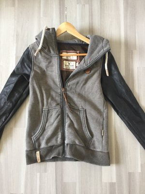 Naketano Fleece Jackets black-grey brown