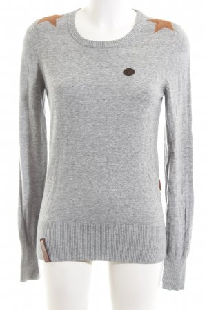 Naketano Knitted Sweater light grey flecked casual look