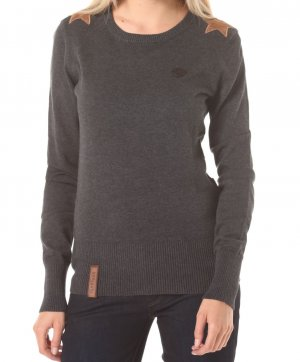 Naketano Strickpullover in Grau