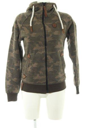 Naketano Sweatjacke khaki-braun Camouflagemuster Casual-Look