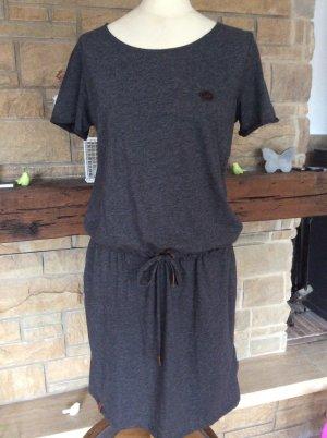 Naketano T-shirt jurk donkergrijs-grijs