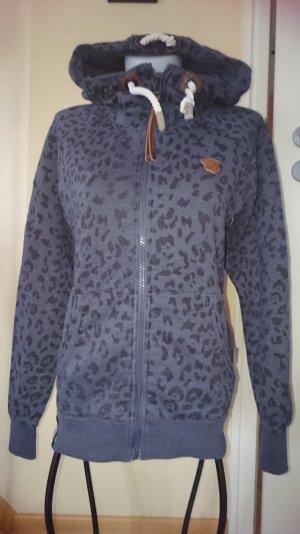 Naketano Sweatshirtjacke Gr M blau / schwarz