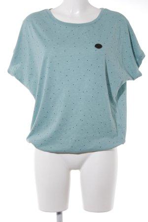 Naketano T-Shirt blassblau-dunkelblau Punktemuster Casual-Look