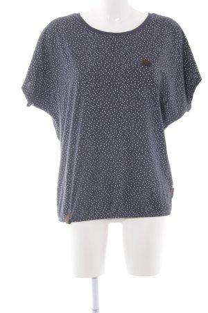 Naketano T-Shirt dunkelblau-weiß Sternenmuster Casual-Look