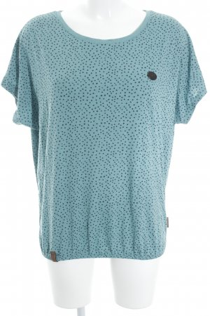 Naketano T-Shirt graugrün-schwarz Sternenmuster Casual-Look