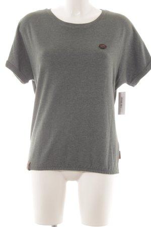 Naketano T-Shirt grüngrau schlichter Stil