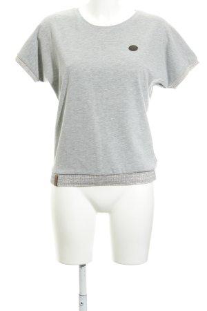 Naketano T-Shirt hellgrau-grau meliert Casual-Look
