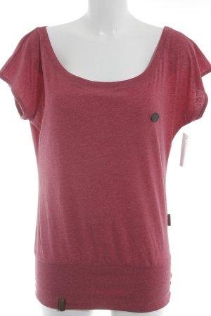 Naketano T-Shirt himbeerrot Casual-Look