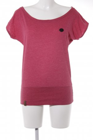 Naketano T-Shirt magenta meliert Casual-Look