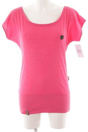 Naketano T-Shirt pink Casual-Look