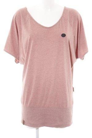 Naketano T-Shirt pink meliert Casual-Look