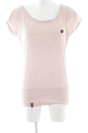 Naketano T-Shirt rosa-weiß meliert Casual-Look