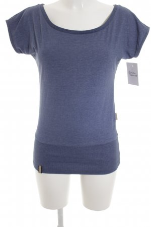 Naketano T-Shirt stahlblau Casual-Look