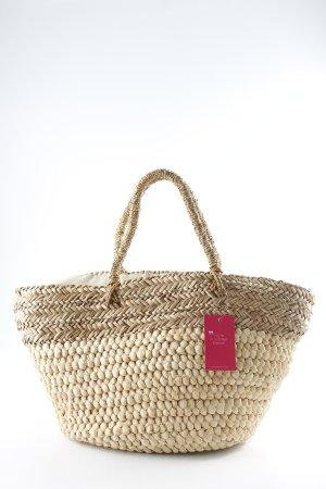 Nali Basket Bag oatmeal-beige cable stitch Boho look