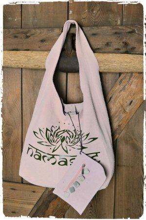 Namaste Lotusblüte Shopper Rose ibiza Leder