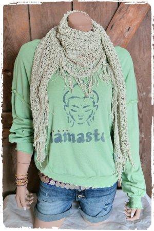 Namaste Oversize Shirt mit Swarovski Steinen boho hippie ibiza