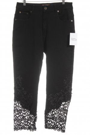 nana belle Peg Top Trousers black extravagant style