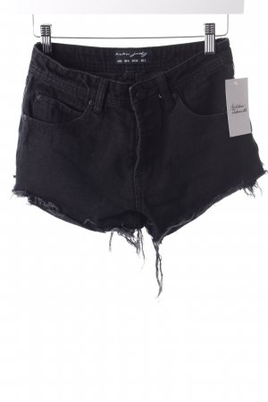 nANA jUDY Shorts schwarz Used-Optik