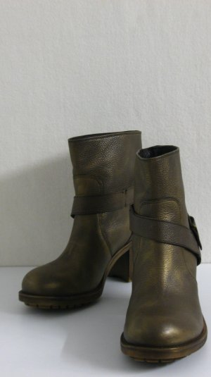 Slip-on laarzen brons-goud Leer
