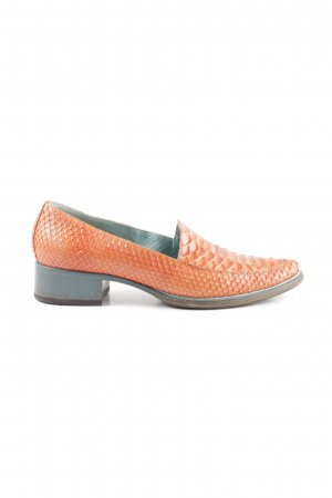 Nando Muzi Chaussure à talons carrés orange clair motif animal élégant