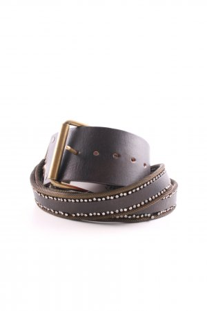 Nanni Double Belt brown-gold-colored casual look
