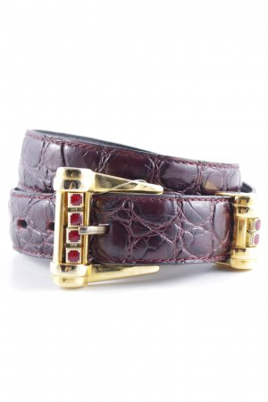Nanni Leather Belt cognac-coloured animal pattern street-fashion look