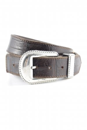 Nanni Leather Belt gold-colored-brown wet-look