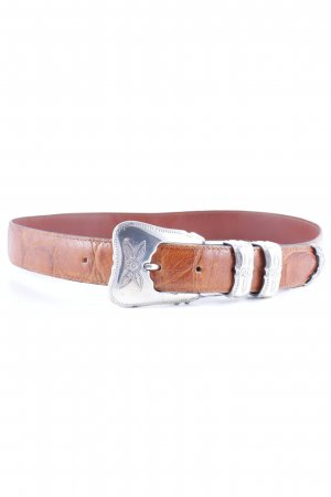 Nanni Leather Belt light brown-brown animal pattern street-fashion look